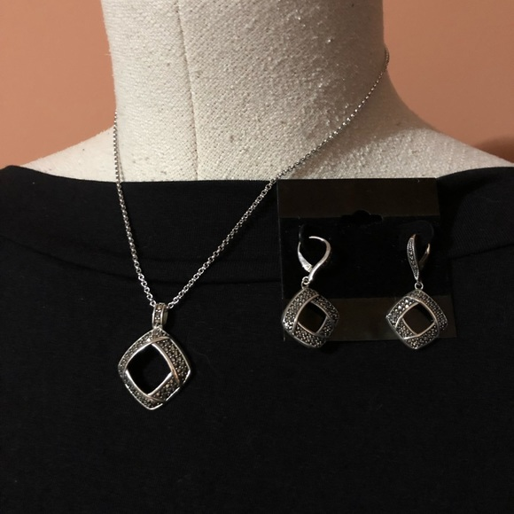 e44b1f9235b8b Marcasite necklace and earring set
